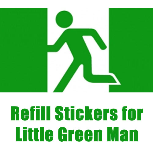 Refill Stickers for Little Green Man