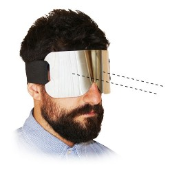 Steel  Blind Fold (with Vision Bag)