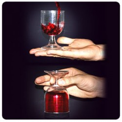 Anti gravity glass (3 effects in 1 glass )