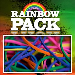Joe Rindfleisch`s Rainbow Rubber Bands (Rainbow Pack)