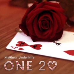 ONE Two of Hearts (Online Instructions and Red Gimmick) Edition by Matthew Underhill
