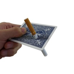 Cigarette Thru Card - Blue