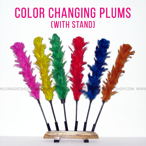 Color Changing Plumes with Stand