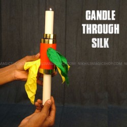 Candle through silk