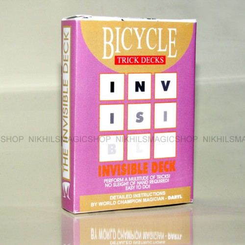 Invisible Deck Bicycle (Blue)