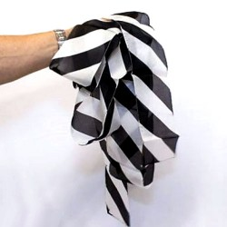 Silk Streamer ( Zebra B&W) 18 feet