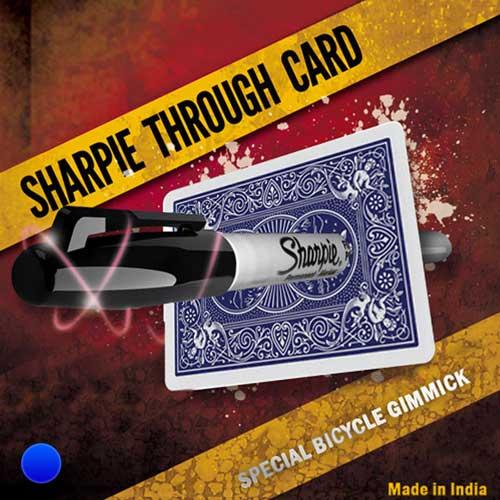 Sharpie Through Card (Blue)
