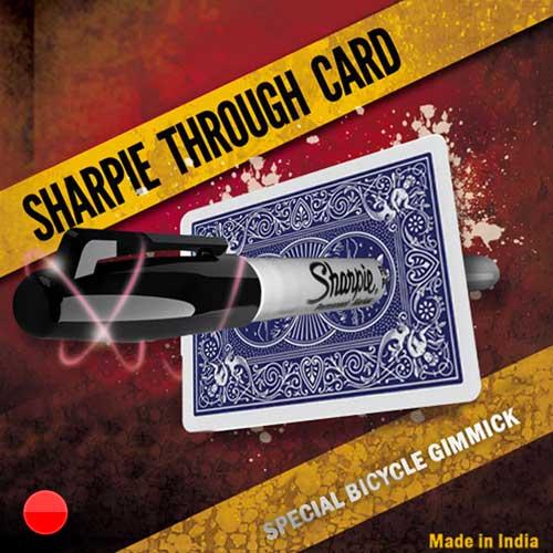 Sharpie Through Card (Red)