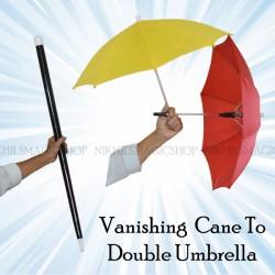 Vanishing Cane To Double Umbrella
