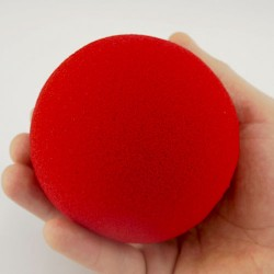 Jumbo 4 inch Super Soft Sponge Ball (Red)