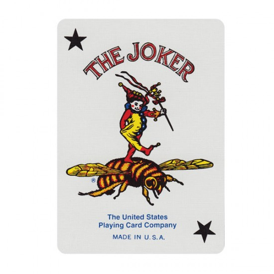 Bee Poker Card (Red)
