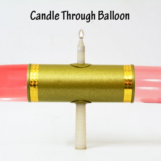 Candle Through Balloon