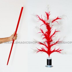 Vanishing Cane To Flower Magnetic (Red & white)