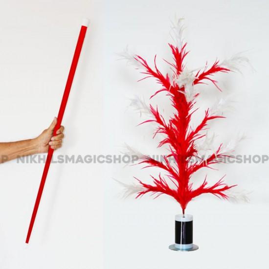 Vanishing Cane To Flower Magnetic (Red & white)