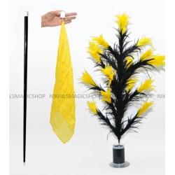 Vanishing Cane To Flower Magnetic (Black & Yellow)
