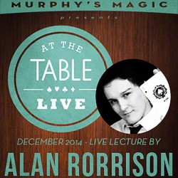 At the Table Live Lecture - Alan Rorrison 12/10/2014 (Video Download)