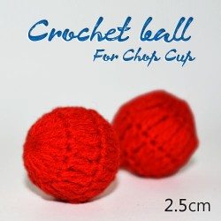 Crochet ball For Chop Cup
