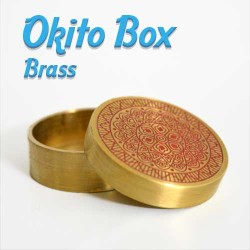 Okito Box Brass Engraved