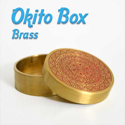 Okito Box Brass Engraved