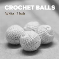 Crochet Balls White (#4)