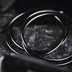 4 inch Linking Rings (Black) by TCC