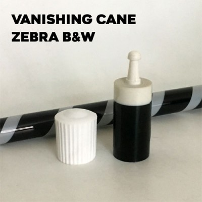 Vanishing Cane Plastic (Zebra Black & White)