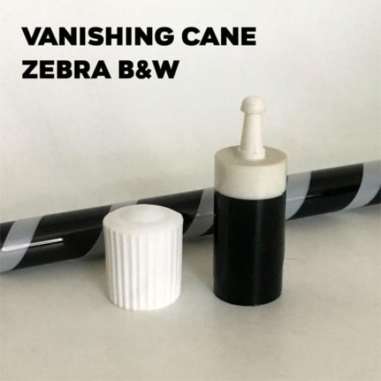 Vanishing Cane Plastic (Zebra Black & White)