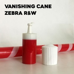 Vanishing Cane Plastic (Zebra Red & White)