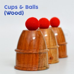 Cups and Balls Wooden