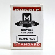 Bicycle Blank face Deck Red (52 cards)