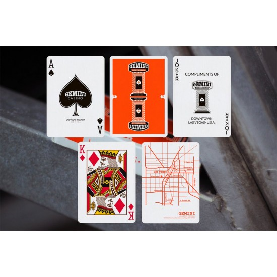 Gemini Casino Orange Playing Cards
