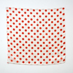 Polka Dot Silks (Red on White)