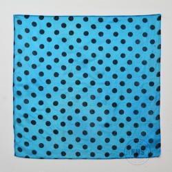 Polka Dot Silks (Black on blue)