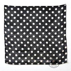 Polka Dot Silks (White on black)