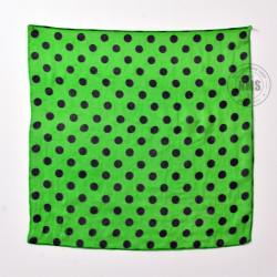 Polka Dot Silks (Black on green)