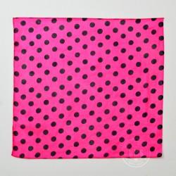 Polka Dot Silks (Black on Pink)