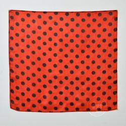 Polka Dot Silks (Black on Red)