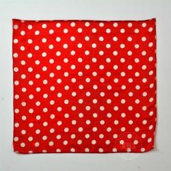 Polka Dot Silks (White on Red)