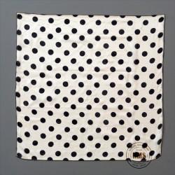 Polka Dot Silks (Black on White)