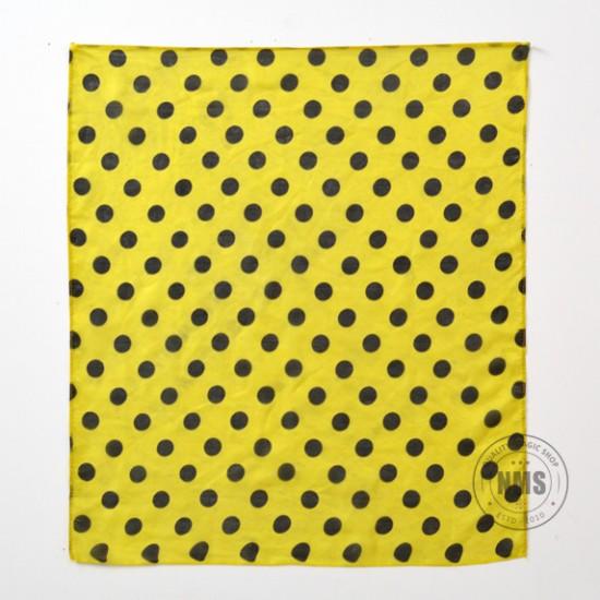 Polka Dot Silks (Black on Yellow)