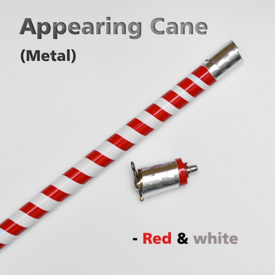 Appearing Cane (Metal Zebra Red & White)