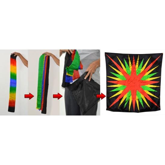 Split Multicolor Streamers To Foulard