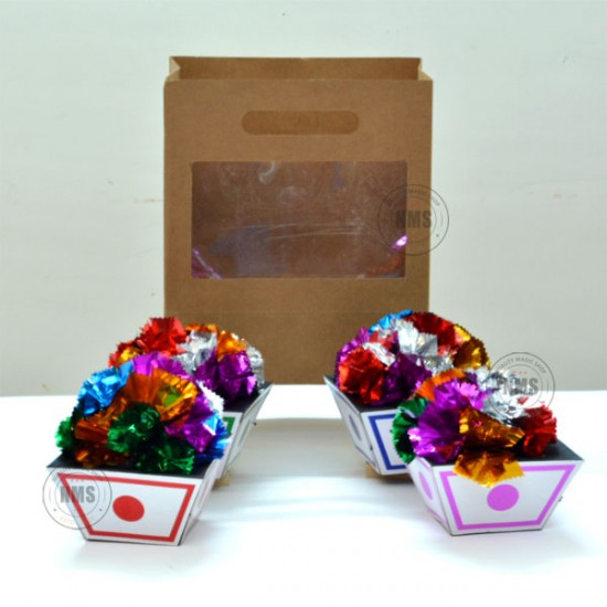 Flower Basket From Bag