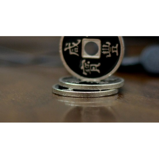 Chinese Coin Black (Half Dollar size)
