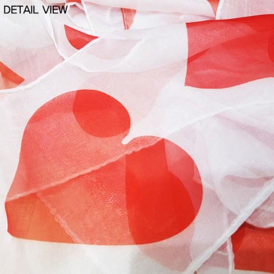 Heart Silk Streamer