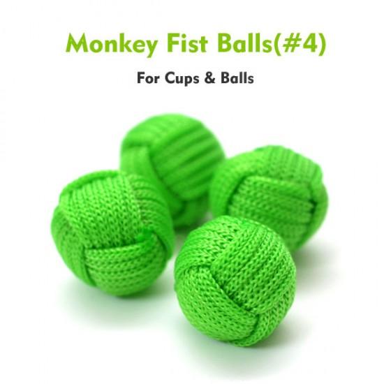 Monkey Fist Cups and Balls (4 Balls) - Green