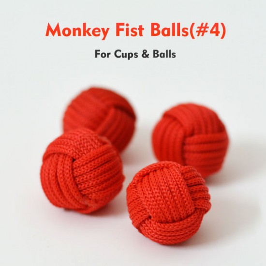 Monkey Fist Cups and Balls (4 Balls) - Red
