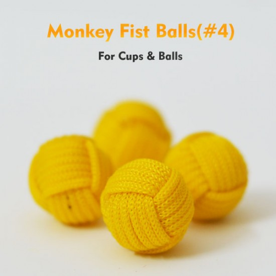 Monkey Fist Cups and Balls (4 Balls) - Yellow