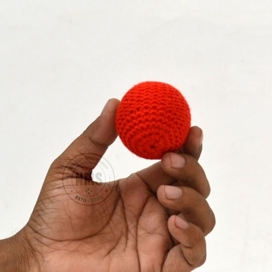 Crochet Sponge Balls Red 2 inch (#4)