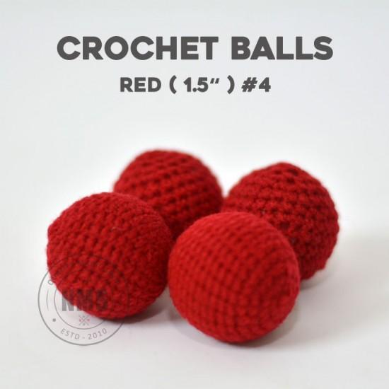 Crochet Balls 1.5 inch (Red #4)